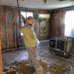 Abatement of vermiculite insulation at a private residence.