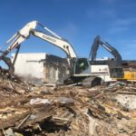 Demolition of Metacomet Country Club clubhouse in East Providence, RI